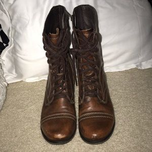 Brown Steve Madden Combat Boots - Women